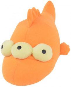Peluche de pez de los Simpsons de 25 cm - Los mejores peluches de los Simpsons - Peluches de series de dibujos animados