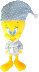 Peluche de piolín pijama de 31 cm - Los mejores peluches de Piolín de los Looney Tunes - Peluches de dibujos animados