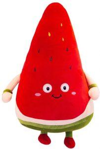 Peluche de sandía de 30 cm - Los mejores peluches de sandias - watermelon - Peluches de frutas y verduras