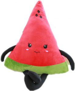 Peluche de sandía de 40 cm 2 - Los mejores peluches de sandias - watermelon - Peluches de frutas y verduras