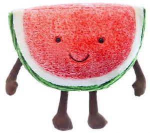 Peluche de sandía de 45 cm - Los mejores peluches de sandias - watermelon - Peluches de frutas y verduras