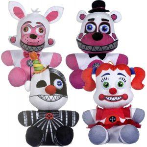 Set de peluches de 5 Nights at Freddys de 25 cm - Los mejores peluches de 5 Nights at Freddys - Peluches de videojuegos