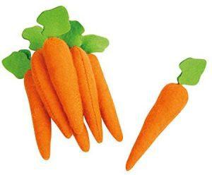 Set de peluches de Zanahorias de 10 cm - Los mejores peluches de zanahorias - Peluches de frutas y verduras
