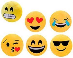 Set de peluches de emojis de 30 cm - Los mejores peluches de emojis - emoticonos - Peluches de emojis