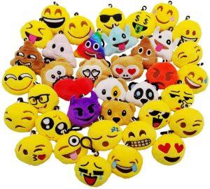 Set de peluches de emojis de 6 cm - Los mejores peluches de emojis - emoticonos - Peluches de emojis