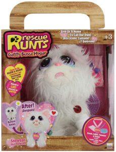 Peluche de Snowball - Gato de nieve para Adoptar - Los mejores peluches de Rescue Runts - Peluches de animales de Rescue Runts