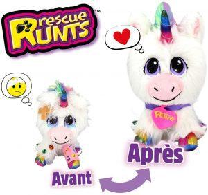 Peluche de Unicornio para Adoptar - Los mejores peluches de Rescue Runts - Peluches de animales de Rescue Runts